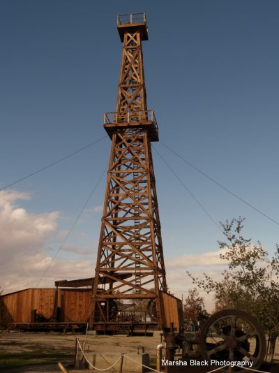 Wooden Oil Tower at Taft Oil Museum
