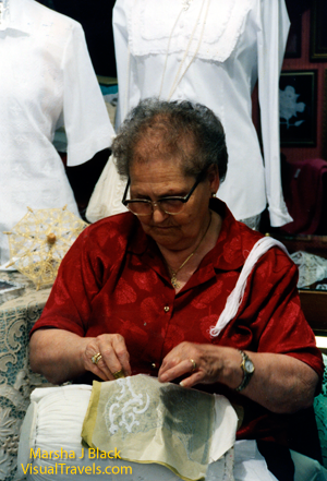 Traditional lace-maker in Burano, Italy, the lace-making island in the Venetian Lagoon | Marsha J Black - Visual Travels™