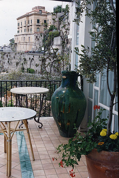 Photo: View of town of Amalfi, Italy from the hotel terrace | Photo: Marsha J Black