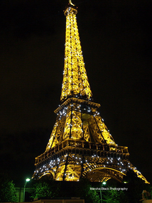 Photo of the Eiffel Tower at Night | Credit: Marsha J Black/Visual Travels