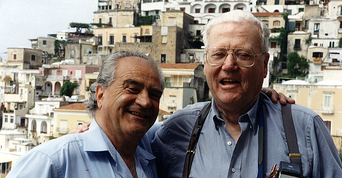 Image: Carmelo Montetti, our local cab driver as guide through the Amalfi Coast in Italy, with my husband, Dale