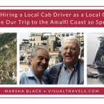 Photo: How Hiring Local Cab Driver, Carmelo (L), as a Local Guide Made Our Trip to the Amalfi Coast so Special. Pictured with my husband, Dale (R) | Photo: Marsha J Black